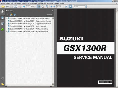 Suzuki Hayabusa Service Manual Suzuki Gsx1300 Hayabusa Service Manual Parts Manual