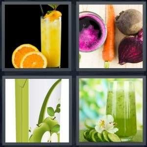 vegetables 4 pics one word 4 pics 1 word answer for orange vegetables apple drink