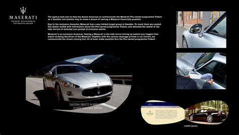 used maserati ad maserati ambient advert by mccann trident ads of the world