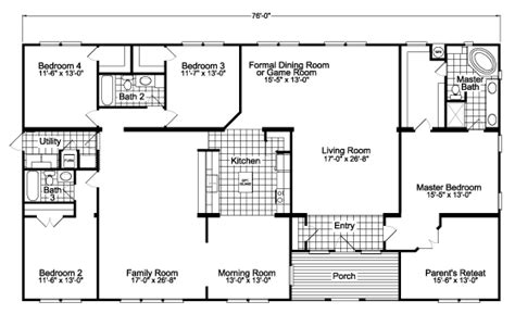 palm harbor floor plans the gotham vr41764b manufactured home floor plan or