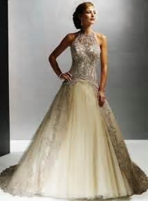 colored wedding gowns chagne colored wedding dresses