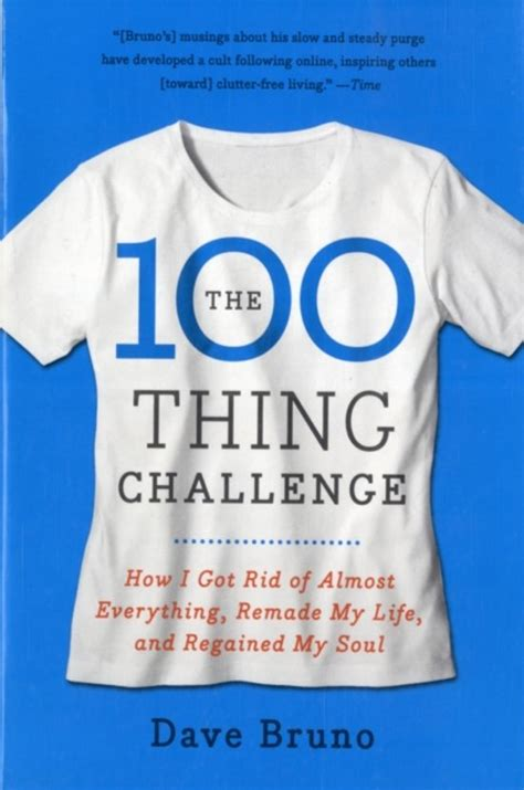 100 things challenge bol the 100 thing challenge dave bruno