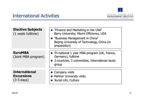 Mba In Project Management In Germany by Georg Simon Ohm Mba Program Germany