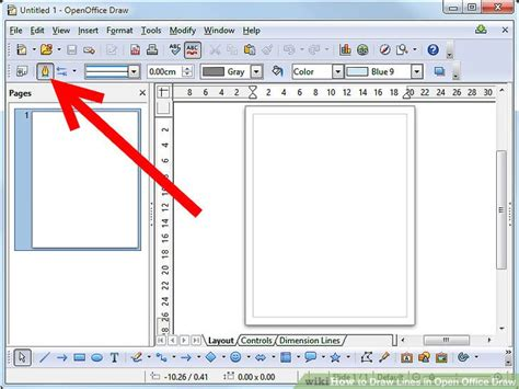 office drawing software how to draw lines in open office draw 6 steps with pictures