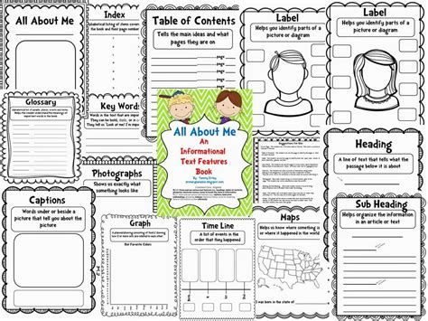 all about me book template the space coast informational text features all