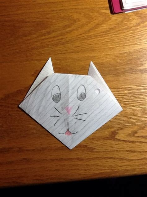 Origami Notebook Paper - how to make an origami cat from notebook paper snapguide