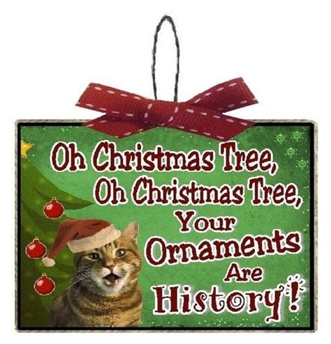 christmas tree oh christmas tree your ornaments are history clever and festive cat decorations