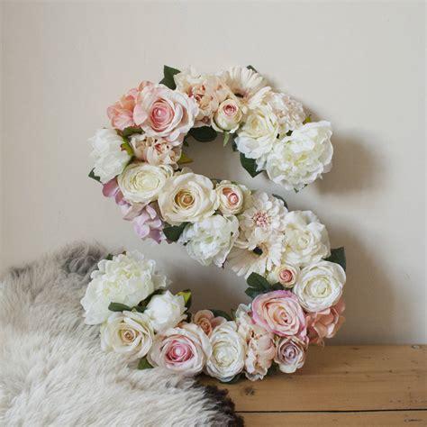 Handmade Letters - handmade flower letter baby nursery gift by twine