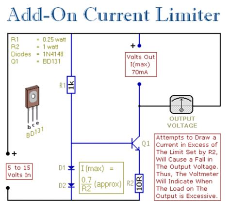 how does a current limiting resistor work how to build an add on current limiter for your psu circuit diagram