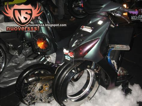 Lu Projie Mio Sporty sparepart motor modification custom drag mio low