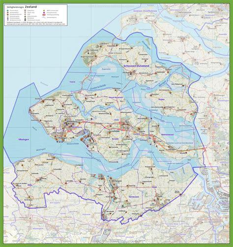 netherlands highway map zeeland road map