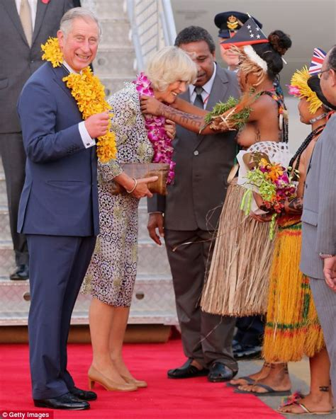 Missis kwin sends her love charles and camilla fly in to papua new
