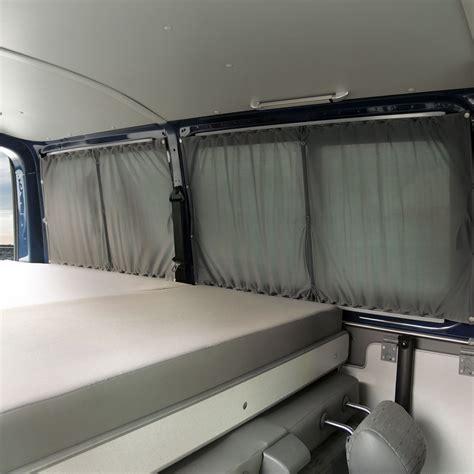 T5 Fenster Sichtschutz by Vw T5 Doppel Gardinen Set Blickdicht Grau Schwarz