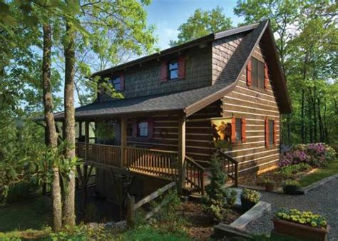 nantahala log home plan by appalachian log structures inc