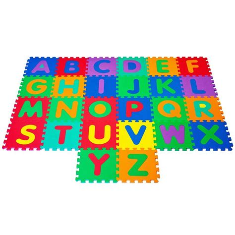 Home Depot Puzzle Mats by Trademark Foam Floor Alphabet Puzzles Mat For