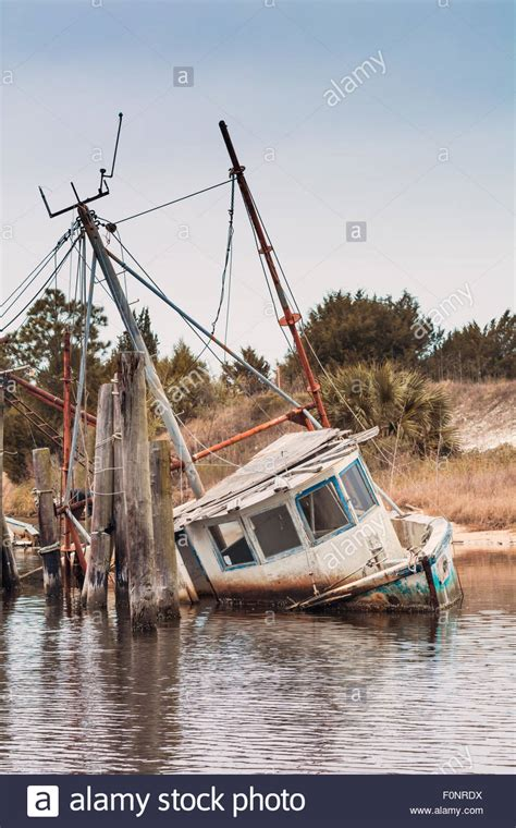 shrimp boat ashore in daytona hurricane damage florida stock photos hurricane damage