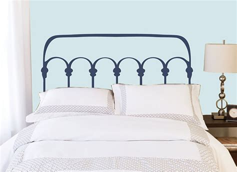 Sale On Headboards by On Sale Bed Wrought Iron Style Headboard Wall Decal