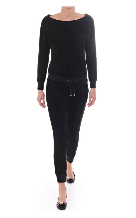 Couture Free Couture Velour Mirror by Couture Womens Black Velour Romper Suit