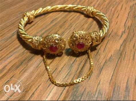 24 carat solid gold plated bangle in reasonable price