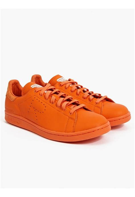 orange sneakers adidas by raf simons stan smith sneakers in orange for