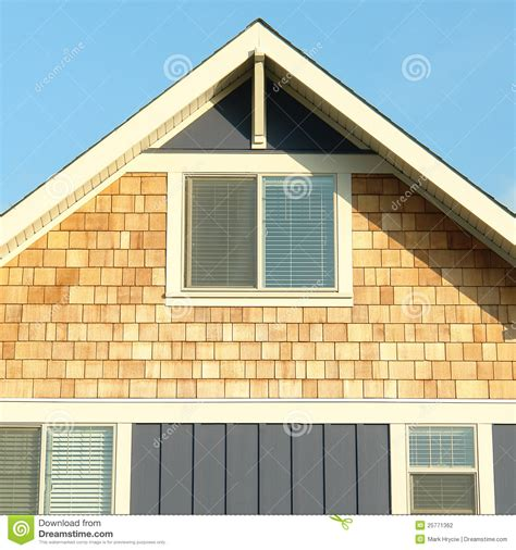siding with mr house home house exterior siding roof gable stock photography image 25771362