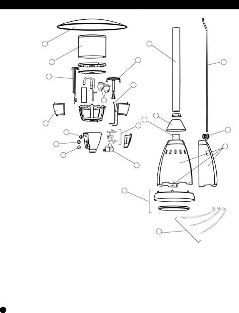 Page 14 Of Coleman Patio Heater 5040 761 User Guide Coleman Patio Heater Parts