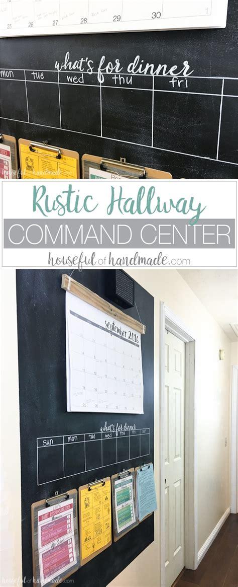 rustic hallway command center houseful  handmade