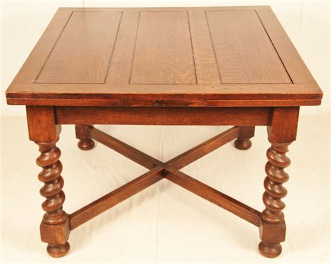 antique draw leaf table oak barley twist draw leaf table c 1900 loveantiques com