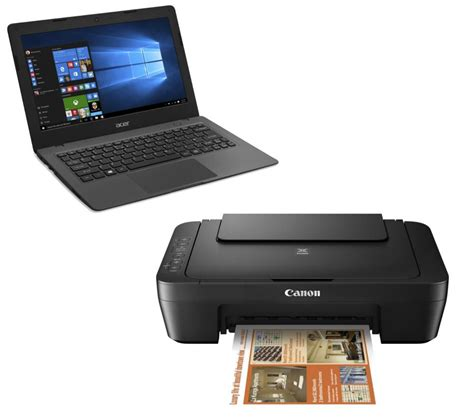 buy acer aspire one 14 quot laptop canon inkjet printer bundle free delivery currys