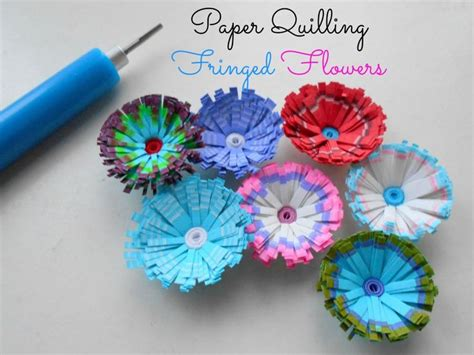 quilling pinterest tutorial flowers multicolored fringed quilled flowers tutorial pinterest