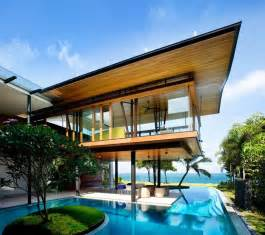 House With Pool Seafront Home In Singapore With Underwater Media Room