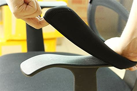 Desk Chair Arm Covers by Bluecosto Soft Neoprene Office Chair Arm Cover Armrest Pads Black Small Set Of 2