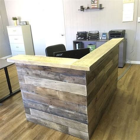 reclaimed wood reception desk best 25 reception counter ideas on reception