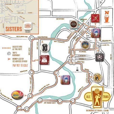 map of oregon breweries bend ale trail map oregon trail maps ales