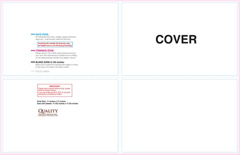 11x17 brochure templates