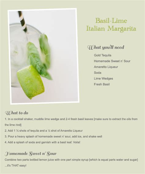 cocktail recipes for signature cocktail recipes for your wedding green