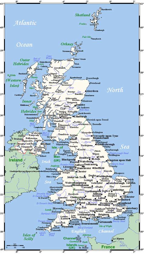 map uk with cities karten vereinigtes k 246 nigreich gro 223 britannien