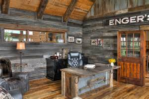 Rustic Office by 25 Ingenious Ways To Bring Reclaimed Wood Into Your Home