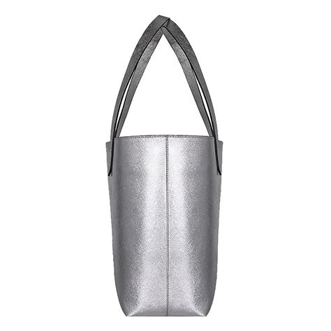 Rafe Bosworth Metallic Linen Purse by Silver Tote Bag Dayony Bag