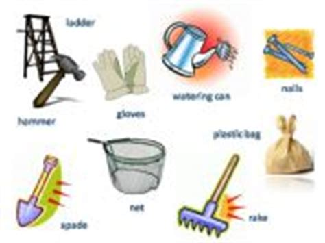 types of garden tools and their uses esl powerpoints gardening tools