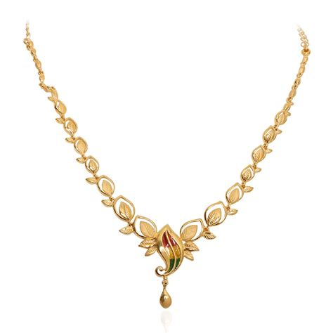 Gold Necklace 61 golden necklaces gold jewellery catalog jewellery in