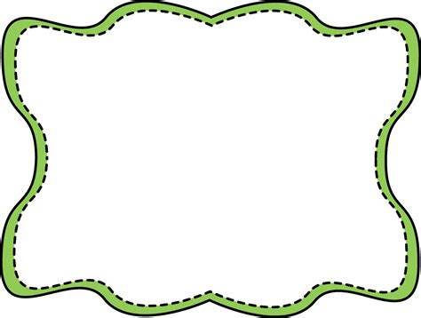 clipart frame green wavy stitched frame free clip frames