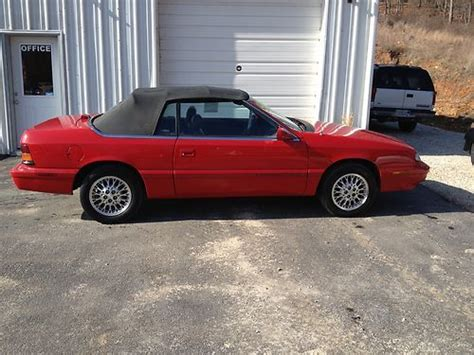 auto air conditioning service 1995 chrysler lebaron regenerative braking find used 1995 chrysler lebaron gtc convertible 2 door 3 0l in sunrise beach missouri united