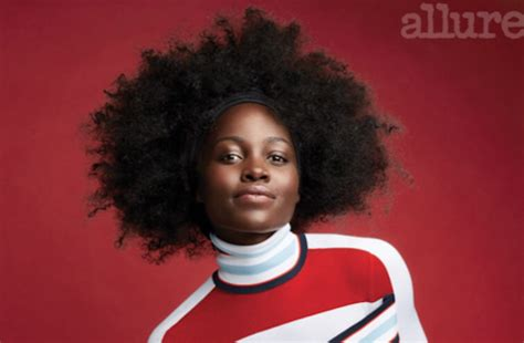 afro allure magazine lupita nyong o stuns in natural hairstyles for allure