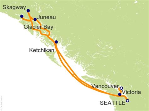 seattle to juneau map catharsis cruise to alaska