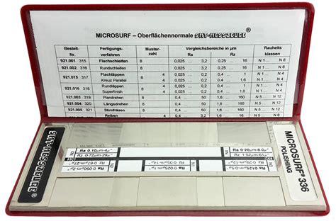 Polieren Rauhtiefe by Oberfl 228 Chen Vergleichsmuster Polieren Smt Messzeuge