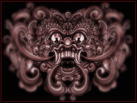 balinese tattoo designs barong design