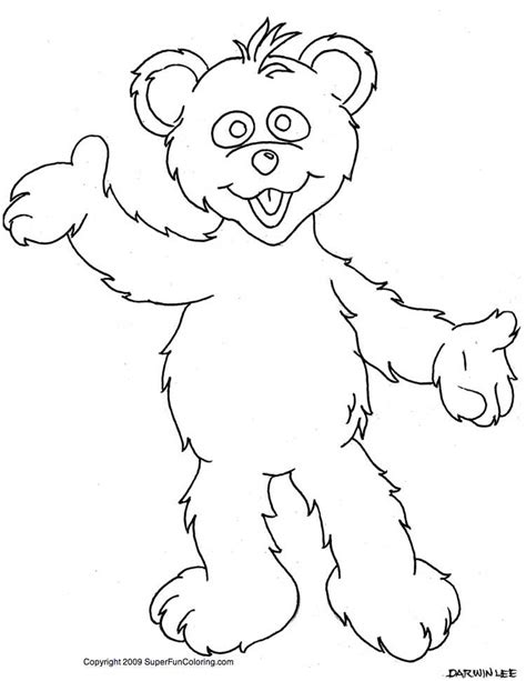 cartoon bear coloring pages cartoon coloring pages