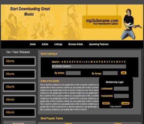 adobe dreamweaver template 25 free dreamweaver templates