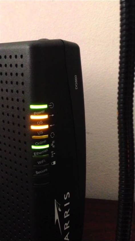 Ds Light Blinking On Arris Modem by Arris Modem Lights Iron